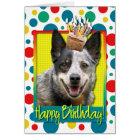 Birthday Cupcake - Australian Cattle Dog Card