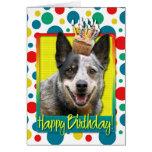 Birthday Cupcake - Australian Cattle Dog Greeting Card