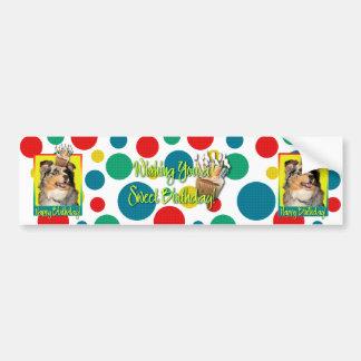 Birthday Cupcake - Australian Shepherd - Dustine Bumper Sticker