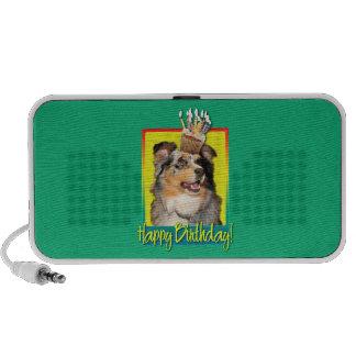 Birthday Cupcake - Australian Shepherd - Dustine Notebook Speaker
