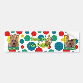 Birthday Cupcake - Australian Terrier Bumper Sticker