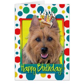 Birthday Cupcake - Australian Terrier Card