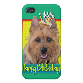 Birthday Cupcake - Australian Terrier Case For iPhone 4