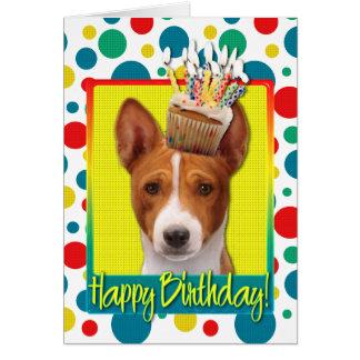 Birthday Cupcake - Basenji Greeting Card