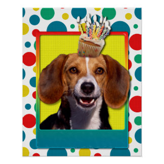 Birthday Cupcake - Beagle Poster