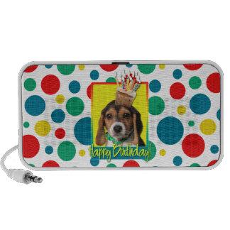 Birthday Cupcake - Beagle Puppy - Chloe Portable Speakers