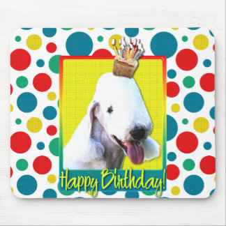 Birthday Cupcake - Bedlington Terrier Mousepads