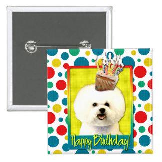 Birthday Cupcake - Bichon Frise 15 Cm Square Badge