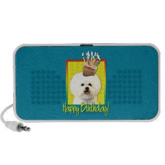 Birthday Cupcake - Bichon Frise Portable Speakers