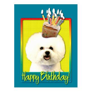 Birthday Cupcake - Bichon Frise Post Cards