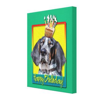 Birthday Cupcake - Bluetick Coonhound - Chuck Canvas Prints