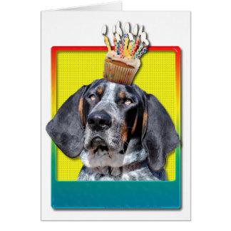 Birthday Cupcake - Bluetick Coonhound - Chuck Card