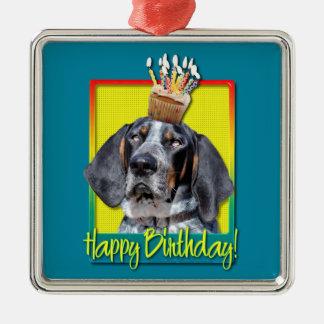 Birthday Cupcake - Bluetick Coonhound - Chuck Christmas Ornaments