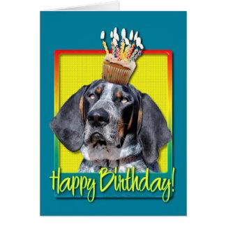 Birthday Cupcake - Bluetick Coonhound - Chuck Greeting Card