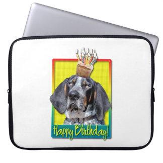 Birthday Cupcake - Bluetick Coonhound - Chuck Computer Sleeves