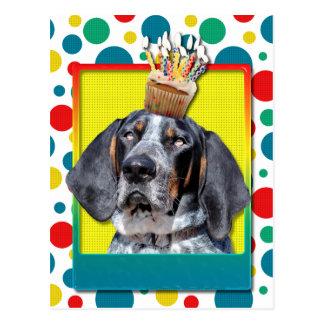 Birthday Cupcake - Bluetick Coonhound - Chuck Postcard