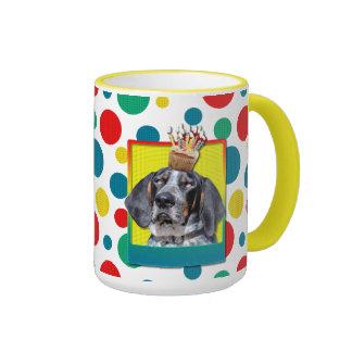 Birthday Cupcake - Bluetick Coonhound - Chuck Ringer Mug