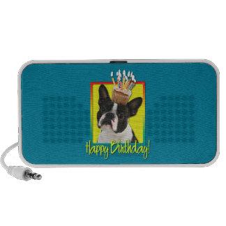 Birthday Cupcake - Boston Terrier Travelling Speakers