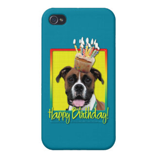 Birthday Cupcake - Boxer - Vindy Covers For iPhone 4