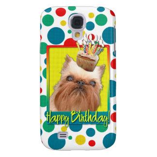 Birthday Cupcake - Brussels Griffon Galaxy S4 Cases