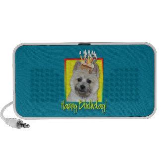 Birthday Cupcake - Cairn Terrier - Teddy Bear Portable Speaker