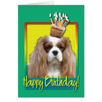 Birthday Cupcake - Cavalier - Blenheim Card