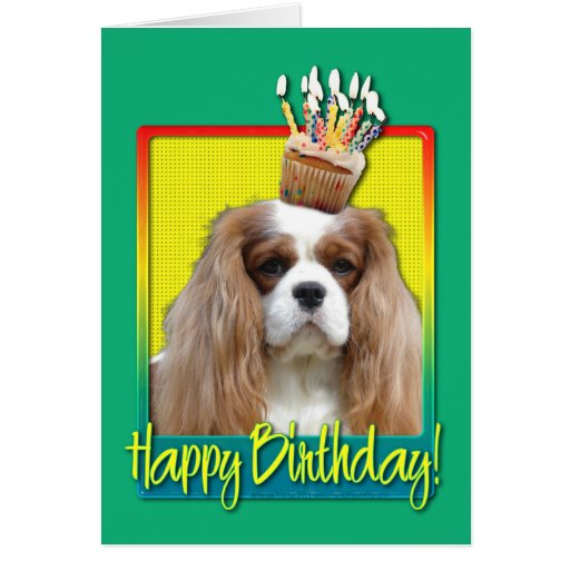Birthday Cupcake - Cavalier - Blenheim Greeting Cards