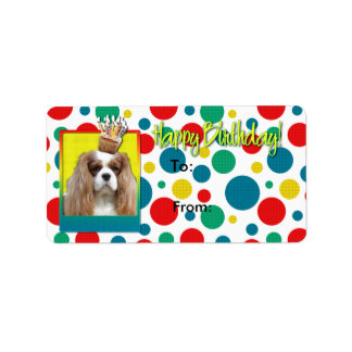 Birthday Cupcake - Cavalier - Blenheim Address Label