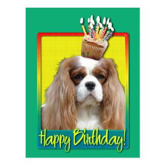 Birthday Cupcake - Cavalier - Blenheim Postcard