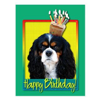 Birthday Cupcake - Cavalier - Tri-Color Postcard