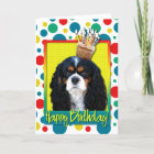 Birthday Cupcake - Cavalier - Tri-Colour Card