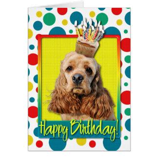 Birthday Cupcake - Cocker Spaniel Card