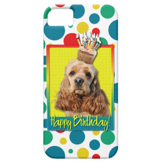Birthday Cupcake - Cocker Spaniel iPhone 5 Cases