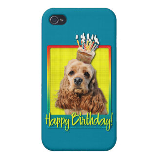 Birthday Cupcake - Cocker Spaniel iPhone 4 Cases