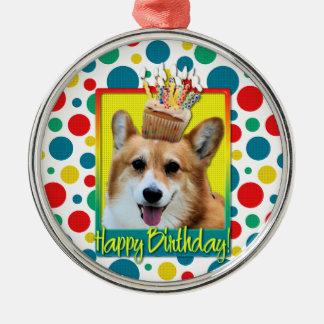 Birthday Cupcake - Corgi - Owen Christmas Ornament