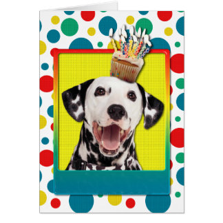Birthday Cupcake - Dalmatian Card