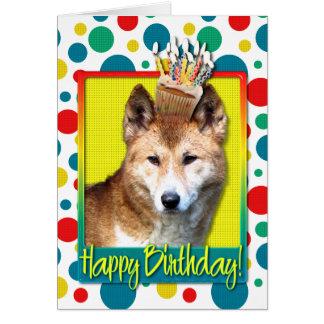 Birthday Cupcake - Dingo Greeting Card