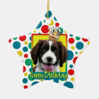 Birthday Cupcake -English Springer Spaniel -Baxter Christmas Ornaments