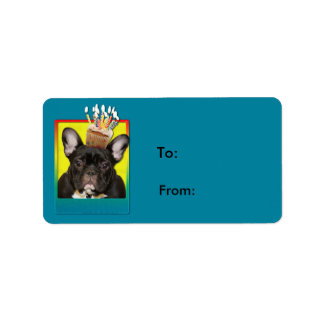 Birthday Cupcake - French Bulldog - Teal Label