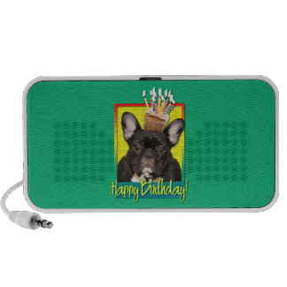Birthday Cupcake - French Bulldog - Teal iPod Speaker