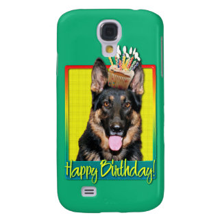 Birthday Cupcake - German Shepherd - Kuno Galaxy S4 Case