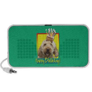 Birthday Cupcake - GoldenDoodle iPod Speakers