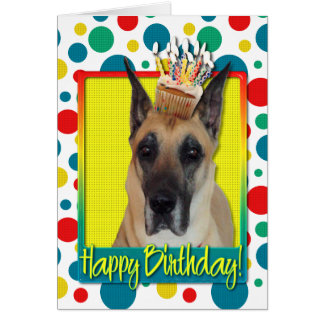 Birthday Cupcake - Great Dane Card