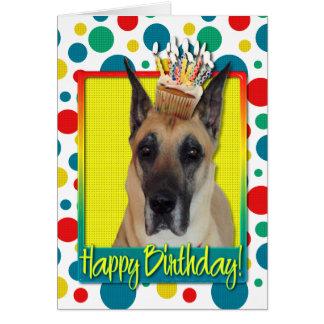Birthday Cupcake - Great Dane Greeting Card