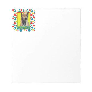 Birthday Cupcake - Great Dane Notepad