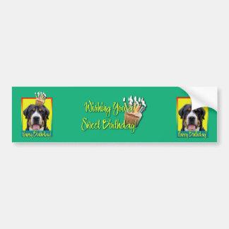 Birthday Cupcake - Greater Swiss Mountain Dog Bumper Sticker