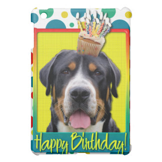Birthday Cupcake - Greater Swiss Mountain Dog Cover For The iPad Mini