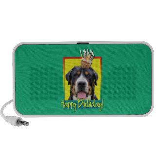 Birthday Cupcake - Greater Swiss Mountain Dog iPhone Speaker