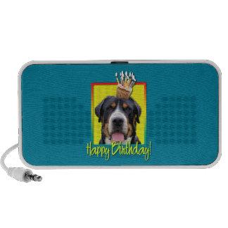 Birthday Cupcake - Greater Swiss Mountain Dog Laptop Speaker