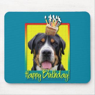Birthday Cupcake - Greater Swiss Mountain Dog Mousepad
